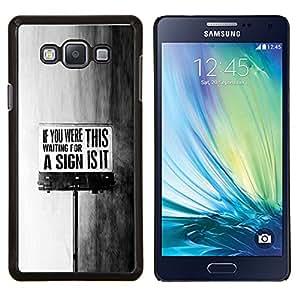 Stuss Case / Funda Carcasa protectora - This Is It sesión Negro Mensaje Texto blanco - Samsung Galaxy A7 ( A7000 )