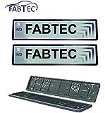 Fabtec Universal Car Number Plate Designer Frame/Show/Cover Set of 2 for All Cars.