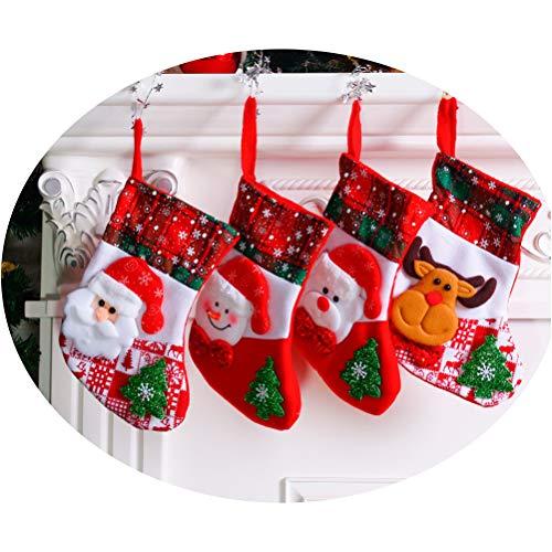 FCLANDING Pack of 4 Christmas Decoration Socks Christmas