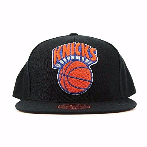NEW YORK KNICKS MITCHELL & NESS HWC XL TEAM LOGO (BLACK) FITTED CAP HAT (7 3/4)