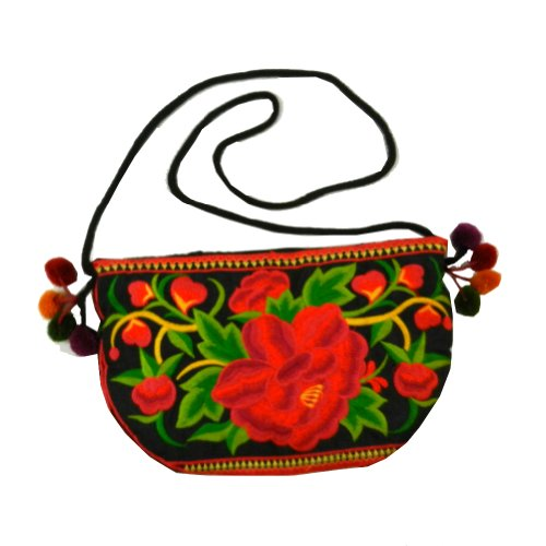 BenThai Products, Borsa a spalla donna Rosso Multicolor