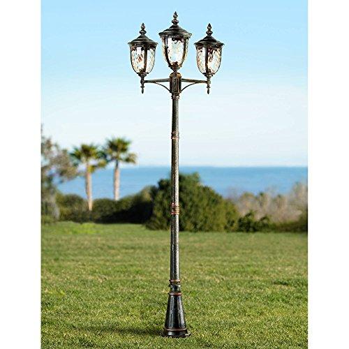 Three Light Outdoor Post in US - 8