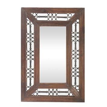 Jali Sheesham Rectangular Mirror - Indian Wood Furniture