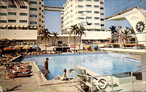 (The Sherry Frontenac Hotel Miami Beach, Florida Original Vintage Postcard)