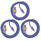 Best Qable Powerz(TM) iPhone 5 Cases - 3-Pack iPhone Lightning Cables, Nylon Braided Durable Lightning Review