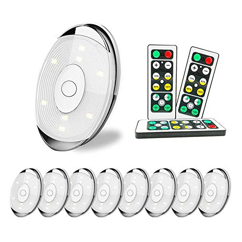 LED Puck Lights,9Pack Wireless Led Cabinet Lights with Remote Control, Timer and Dimmer, Battery Operated(Battery not Including),4000K Warm White Dimmable Closet Light for Kitchen,Wardrobe Corridor