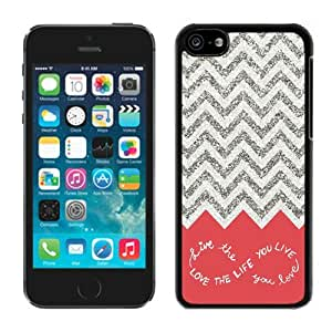 Design for You Colorful Chevron Pattern Live the Life Iphone 5c Case Black Cover