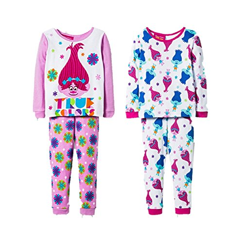 Toddler Pajamas 2 pk 4 pc Set Trolls True Colors Size 4T