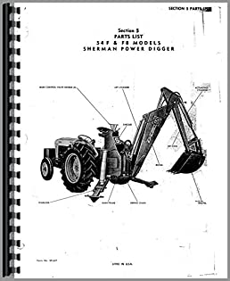 ford 9n sherman 54f backhoe attachment parts manual 6301147667328 ford  tractor wiring harness diagram ford 9n parts diagram