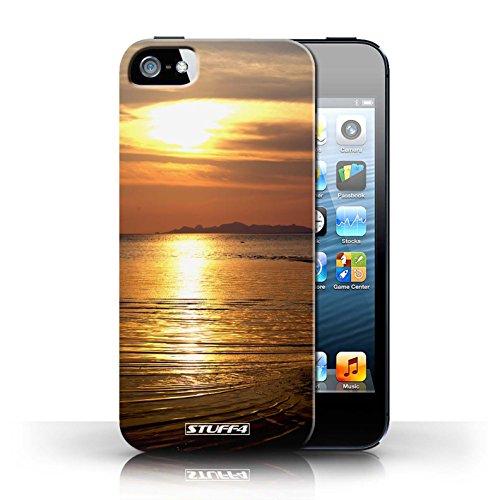 Etui pour Apple iPhone 5/5S / mer conception / Collection de Coucher du Soleil