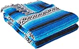 YogaDirect Deluxe Mexican Yoga Blanket, Blue