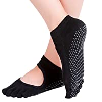 Calcetines para Yoga y Pilates ANTIDERRAPANTES con dedos separados. Increible accesorio, medias antideslizantes, ideales para yoga y pilates. Calcetas de mujer tipo zapatillas.