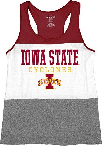 Blue 84 NCAA Iowa State Cyclones Tri-Blend Panel Tank Top, Maroon, Medium