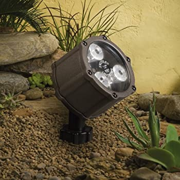 Kichler 15732azt landscape led low voltage flood landscape accent kichler lighting 15733azt led accent light 3 light low voltage 60 degree wide flood light textured architectural bronze with clear tempered glass aloadofball Gallery