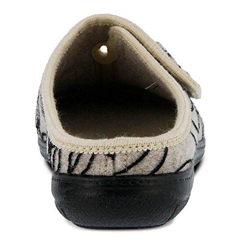 Wool Women's Suede Beige Slippers Textile Ravita Flexus EfwHxBgqw