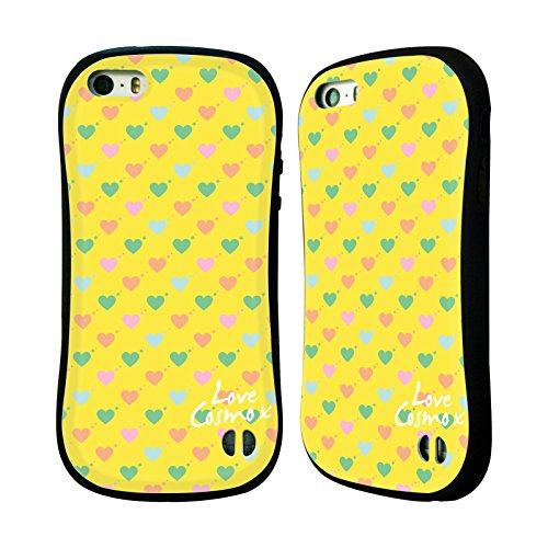 Official Cosmopolitan Ditsy Hearts Pastels Hybrid Case for Apple iPhone 5 / 5s / SE