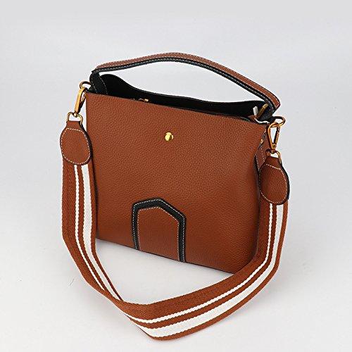 GUANGMING77 Señoras Bolso Bolso De Hombro Hombro _ Señorita,Brown brown