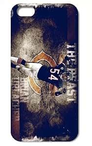 "The NFL stars Brian Urlacher from Chicago Bears team custom design case cover for iphone6 4.7"""