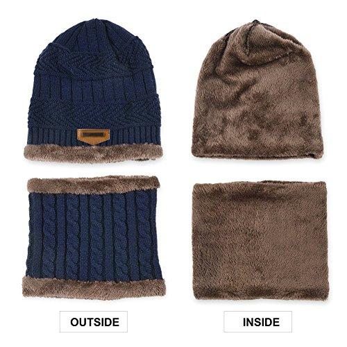 punto Sombrero esquí de y deportes de Azul libre Topcloud de al circular Sombrero Sombrero aire bufanda conjuntos caliente de gqtwP