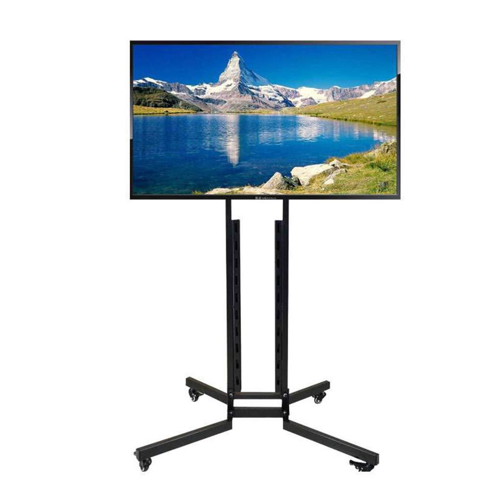 ユニバーサルテレビスタンドフロア、液晶 LED テレビ高さ調整可能なテレビベーススタンド W/ホイールモバイル家具フラットパネルテレビスタンドとエンターテイメントコンソール用32-65 インチ,B B07PM38JV1 B
