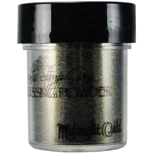 Lindy's Stamp Gang 2-Tone Embossing Powder, 0.5-Ounce Jar, Midnight Gold Obsidian