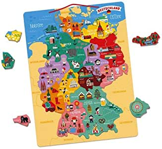 Mapa magnético de Alemania (madera): Amazon.es: Juguetes y juegos