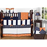 Sweet-Jojo-Designs-Orange-and-Navy-Blue-Arrow-Collection-Crib-Bumper