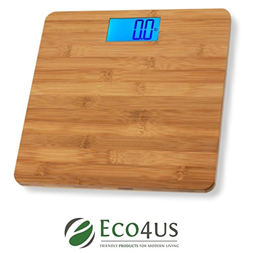 Eco4us - Bamboo Bathroom Scale, Body Scale, Weight Scale, Eco-Friendly, Stylish Design by Eco4us