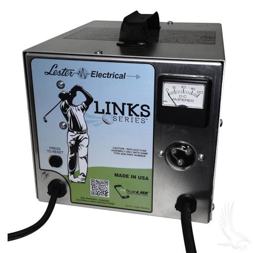 Redhawks Golf (Battery Charger, Lester Link Series, 48V Club Car PowerDrive Plug)