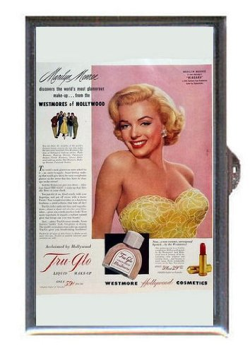 [Marilyn Monroe 1950s Tru-Glo Liquid Makeup, Guitar Pick or Pill Box USA Made] (50s Make Up)