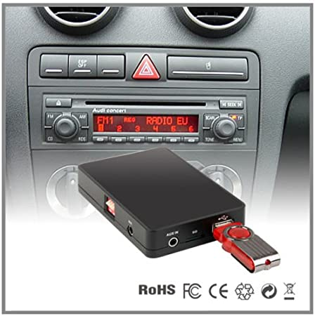 Adaptador de interfaz del reproductor de CD a MP3 auxiliar para coche Audi A4 A6 A8 All Road S4 TT