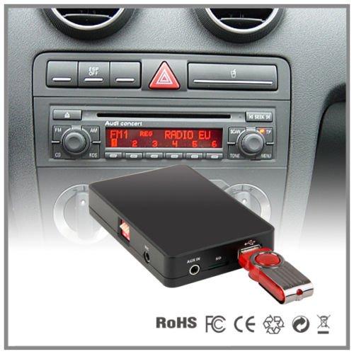 LaPower USB-, SD-, AUX-, MP3-Player-, CD-Wechsler-Adapter fü r Autoradio in AUDI A4, A6, A8, All Road S4 TT 1551-AU8