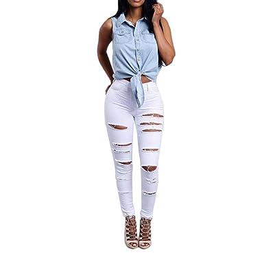 Longra✿✿ Diseño único para Mujer de Talle Medio Pitillo ...