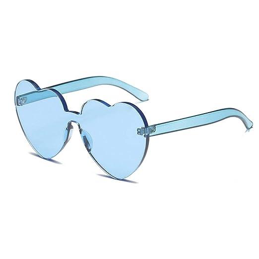 Amazon.com: Meyison - Gafas de sol transparentes con forma ...