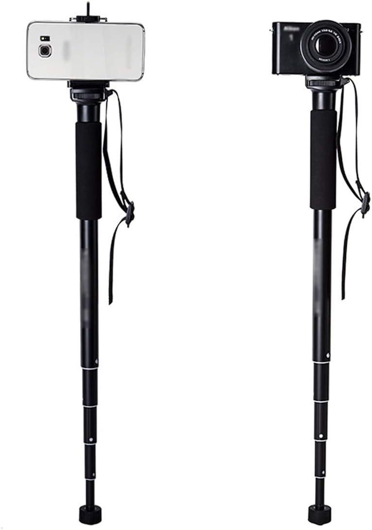 CJGXJZJ Portable Camera Monopod Light Aluminum Alloy and ABS Material Height Adjustment Range 37-152cm for SLR Micro Single Mobile Phone