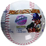 Big League Chew Bubble Gumballs Baseball with Tatto & Sticker Sheet - 12 Ct. Case