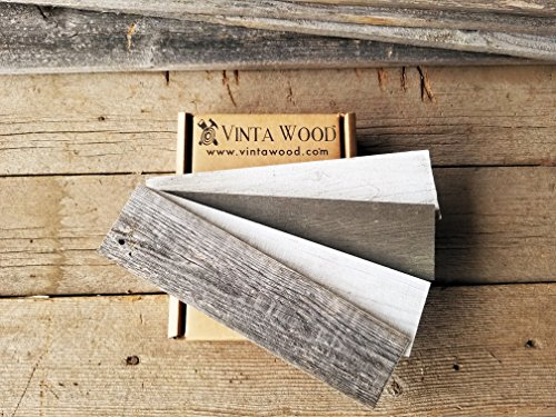 Vinta Wood Reclaimed Barn Wood Peel and Stick Sample box