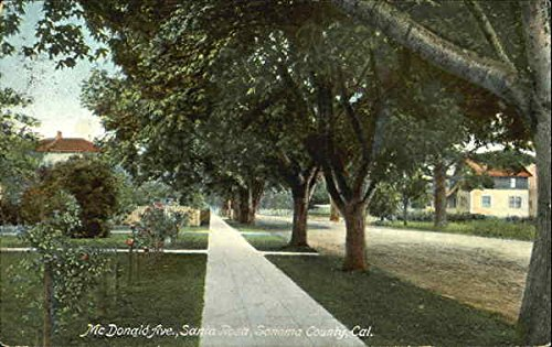 Mcdonald Ave, Sonoma County Santa Rosa, California Original Vintage Postcard ()
