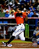Giancarlo Mike Stanton Autographed Miami Marlins 8x10 Photo - JSA