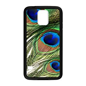 CMGOODS Peacock Feather Custom Case for Samsung Galaxy S5 (Laser Technology)