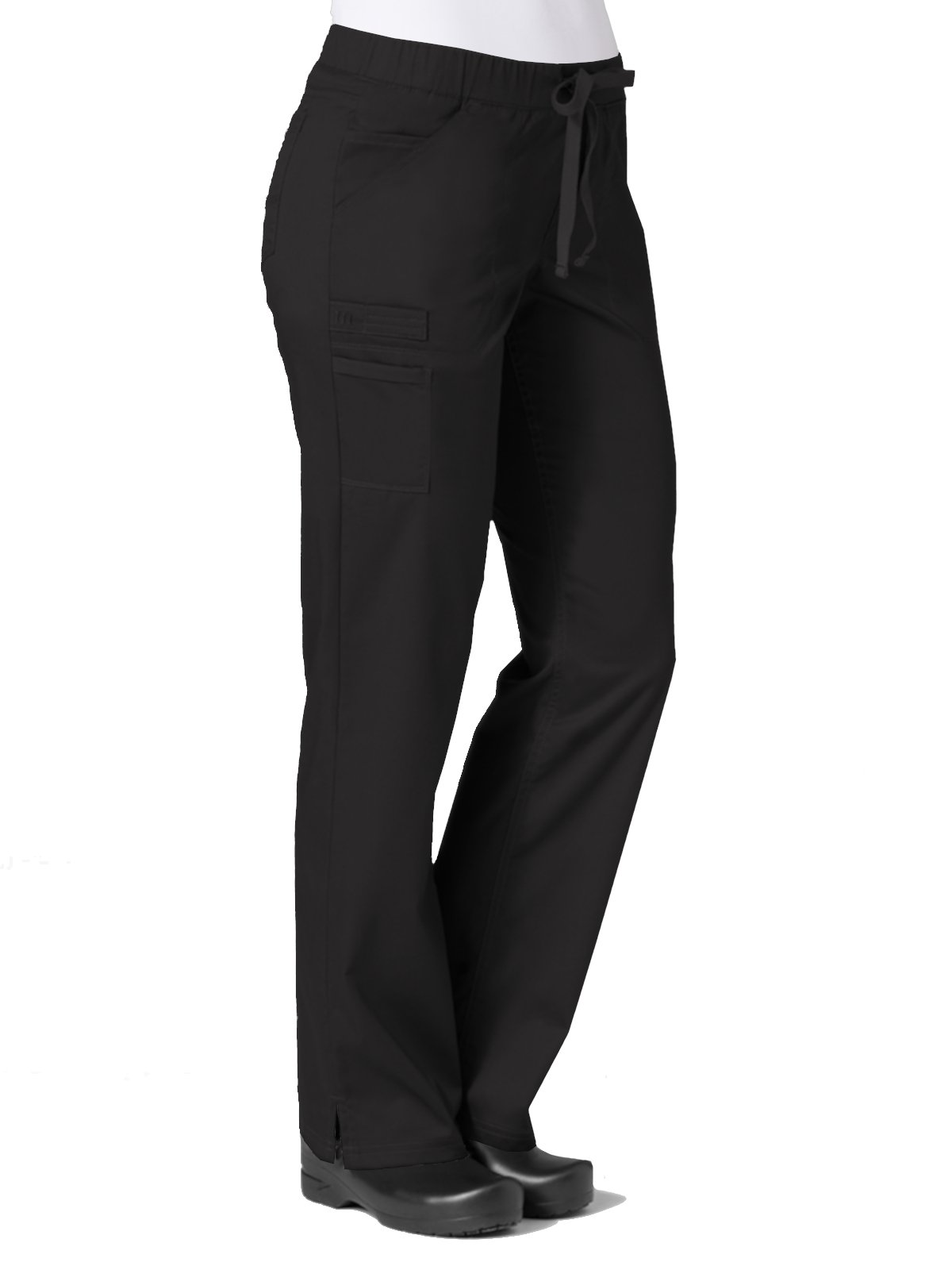 PrimaFlex by Maevn Women's Straight Leg Scrub Pant Large Petite Black by Maevn