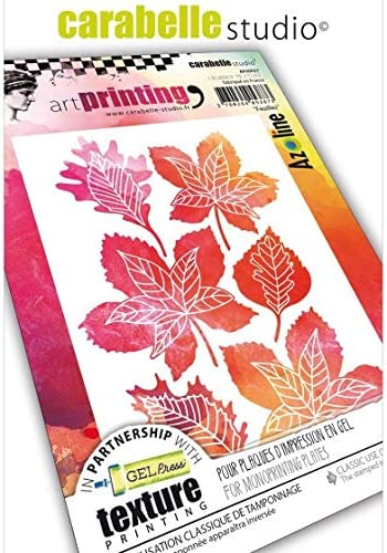 Carabelle Studio Art Printing A6 Rubber Texture Plate-Flowers /& Leaves