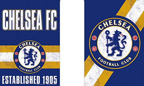 WinCraft Chelsea FC Garden Flag, Vintage Distressed Edition, 12.5x18 inches, 2 sided ()
