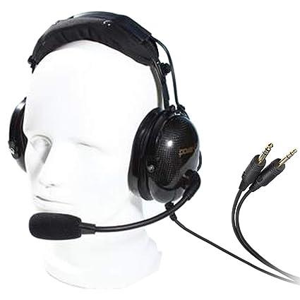 AG-1 Auriculares de diadema con cancelación de ruido para comunicación de aviación, auricular