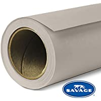 Savage SV-107X12-12 Seamless Background Paper, 107-Inch wide x 12 Yards, Studio Gray, 12