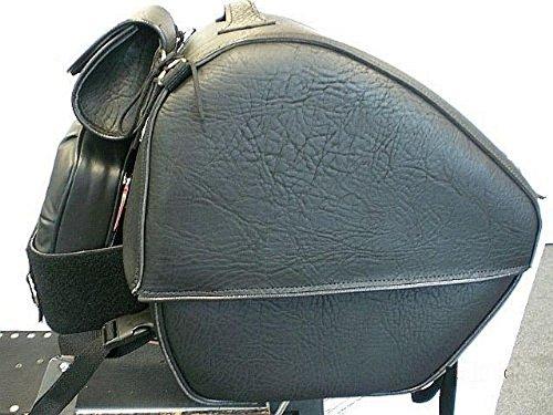 Leather Motorcycle Luggage Rack Bag - 9
