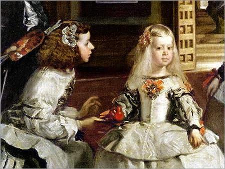 Lienzo 70 x 50 cm: Infanta Margarita Teresa de Diego Rodriguez de Silva y Velazquez / Bridgeman Images - cuadro terminado, cuadro sobre bastidor, lámina terminada sobre lienzo auténtico, impresión ...