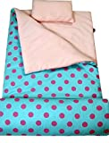 SoHo kids Classic children sleeping slumber bag with pillow and carrying case lightweight foldable for sleep over(Aqualicious)