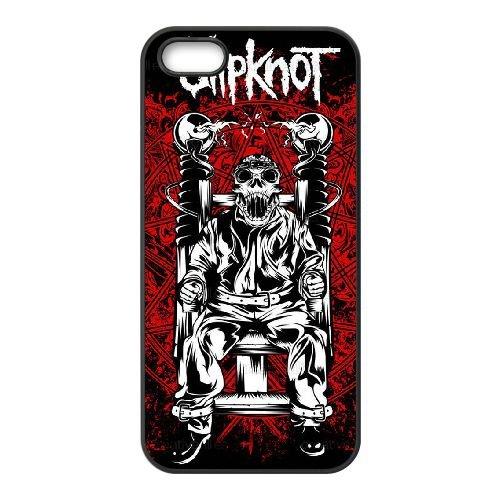 D6L82 Slipknot U6O5WO coque iPhone 5 5s cellule de cas de téléphone couvercle coque noire KP5QMW8OR
