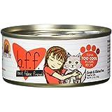 Best Feline Friend (B.F.F.) Grain-Free Cat Food by Weruva, Tuna Too Cool, 5.5-Ounce Can (Pack of 24)